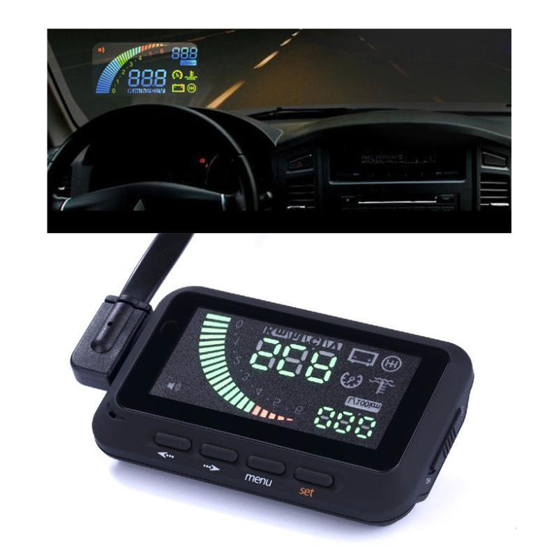 K879 General ActiSafety multi-vehicle car head-up display system HUD OBD II fuel consumption speed warning - Genesis century electronic store