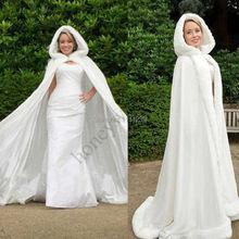 Inverno nuziale del capo faux fur wedding mantelli con cappuccio perfetto per l'inverno sposa mantelli abaya DS0990(China (Mainland))