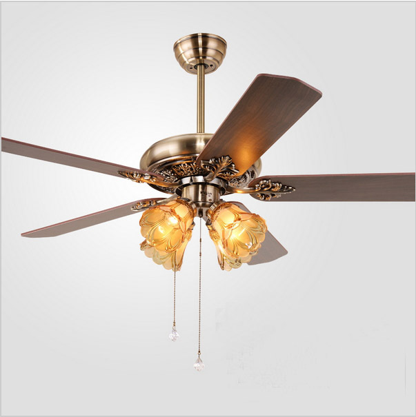 European Fan Lights Living Room Lamp Bedroom Ceiling Fan