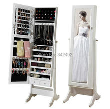 Fashional  mirror jewelry cabinet made in china/ open door jewelry mirror cabients /Promotion price  2014 floor jewelry cabinet(China (Mainland))