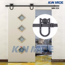 MM-20X 4.1FT-8FT Horseshoe Design Barn Door Hardware Wooden Sliding Door Track Kits-Free Shipping(China (Mainland))
