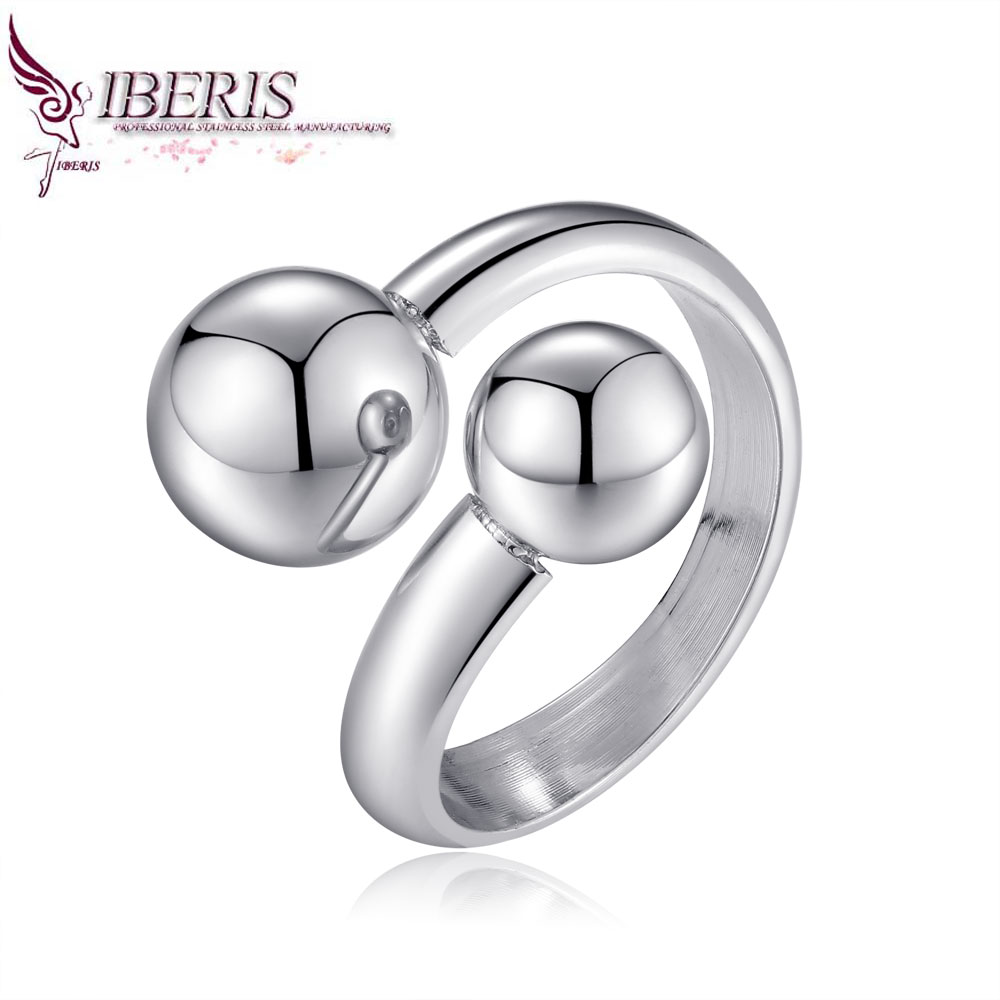 Iberis new fashion silver ring, simple design atmosphere of a small woman, 316L stainless steel advanced jewelry(China (Mainland))