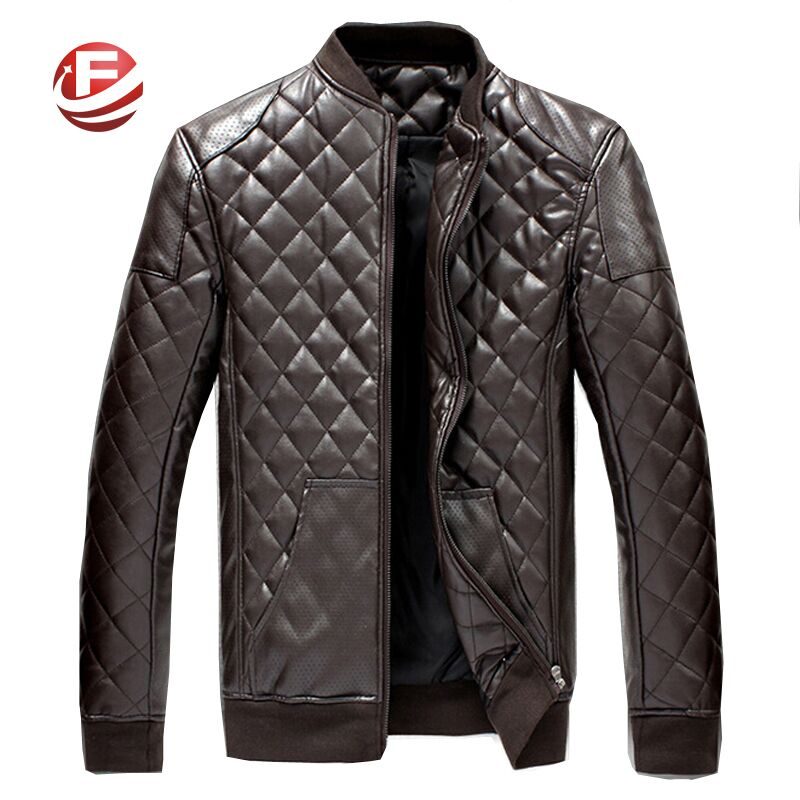 New Arrival Men PU Leather Jackets Plus Size M-6XL Good Quality Plaid Pattern Winter Fashion Man Warm CoatsОдежда и ак�е��уары<br><br><br>Aliexpress