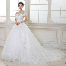 Best Selling High Quality A-Line Strapless Floor-Length Lace-up Satin Bridal Gown Lace Appliques Princess Wedding Dresses