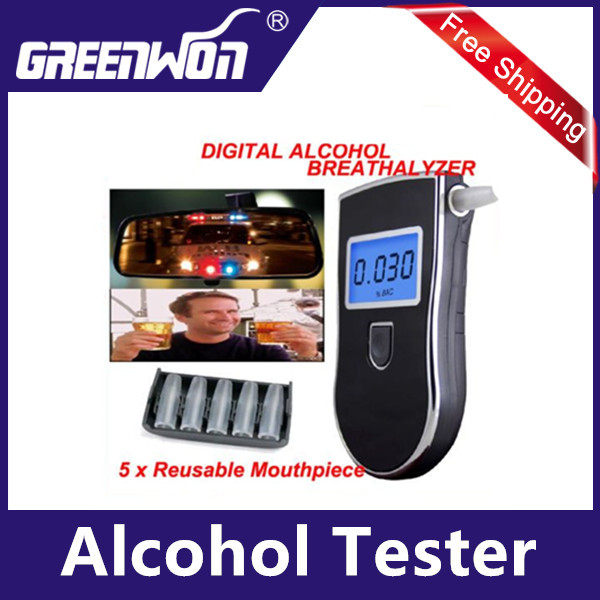 2013 hot selling high quality portable alkohol tester for lifeloc test breathalyzer test with 5 mouthpiece AT818 Free Shipping<br><br>Aliexpress