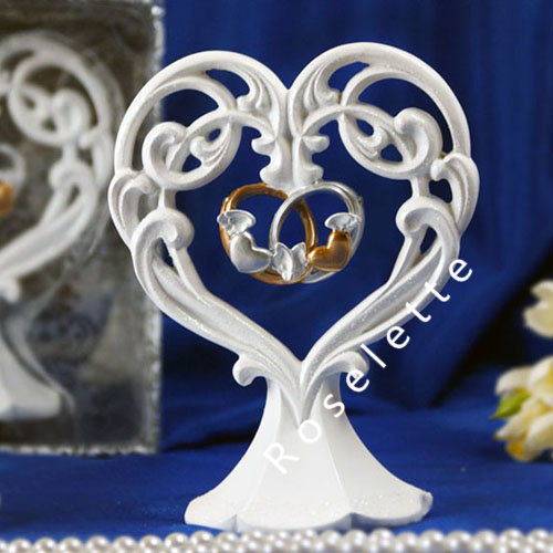 Wedding Cake Toppers Double Rings Rings Wedding Cake Topper