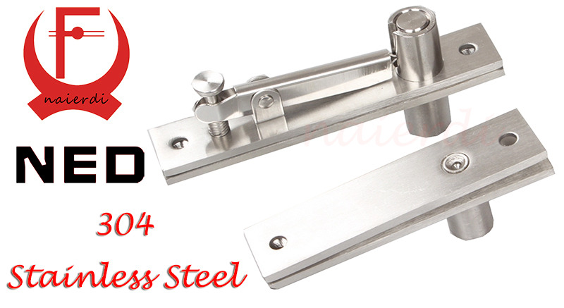 NED High Quality Stainless Steel 304 Door Hinge 130x25mm 105x25mm Pivot Hinge 360 Degree Install Up and Down For One Set(China (Mainland))