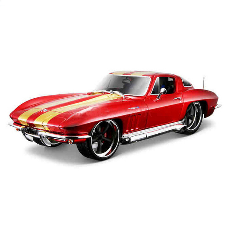 Brand Vintage Car Model for Chevrolet Corvette 1:18 Alloy Diecast hot wheels Metal Sedan Model Mini Vehicle Collection gift Toy(China (Mainland))