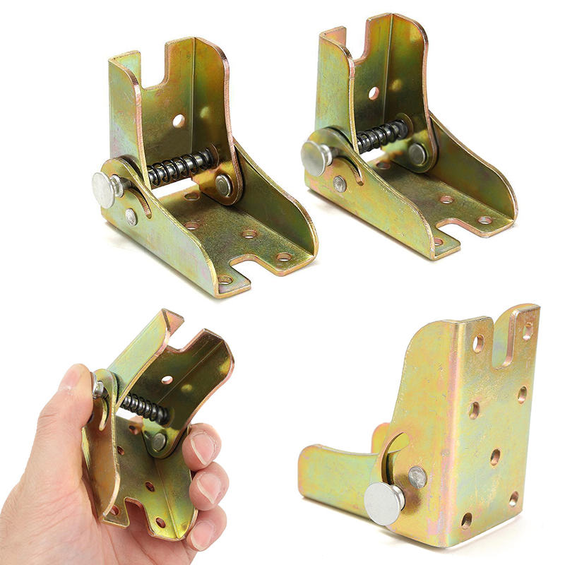 New 2pcs Alloy Foldable Extension Table Leg Bracket Folding Self Lock Fittings For Furniture Accessories(China (Mainland))
