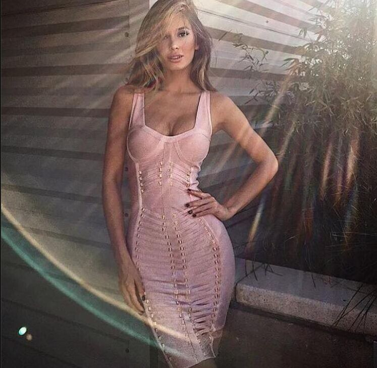 2015 New style high quality summer fashion sexy tight-fitting long-sleeve solid color styte bandage dress celebrity Bra dressesОдежда и ак�е��уары<br><br><br>Aliexpress