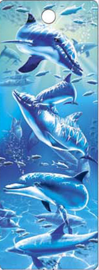 (180 Pieces/Lot,30 Designs) 3D Bookmark Dolphin Gift for Student(China (Mainland))