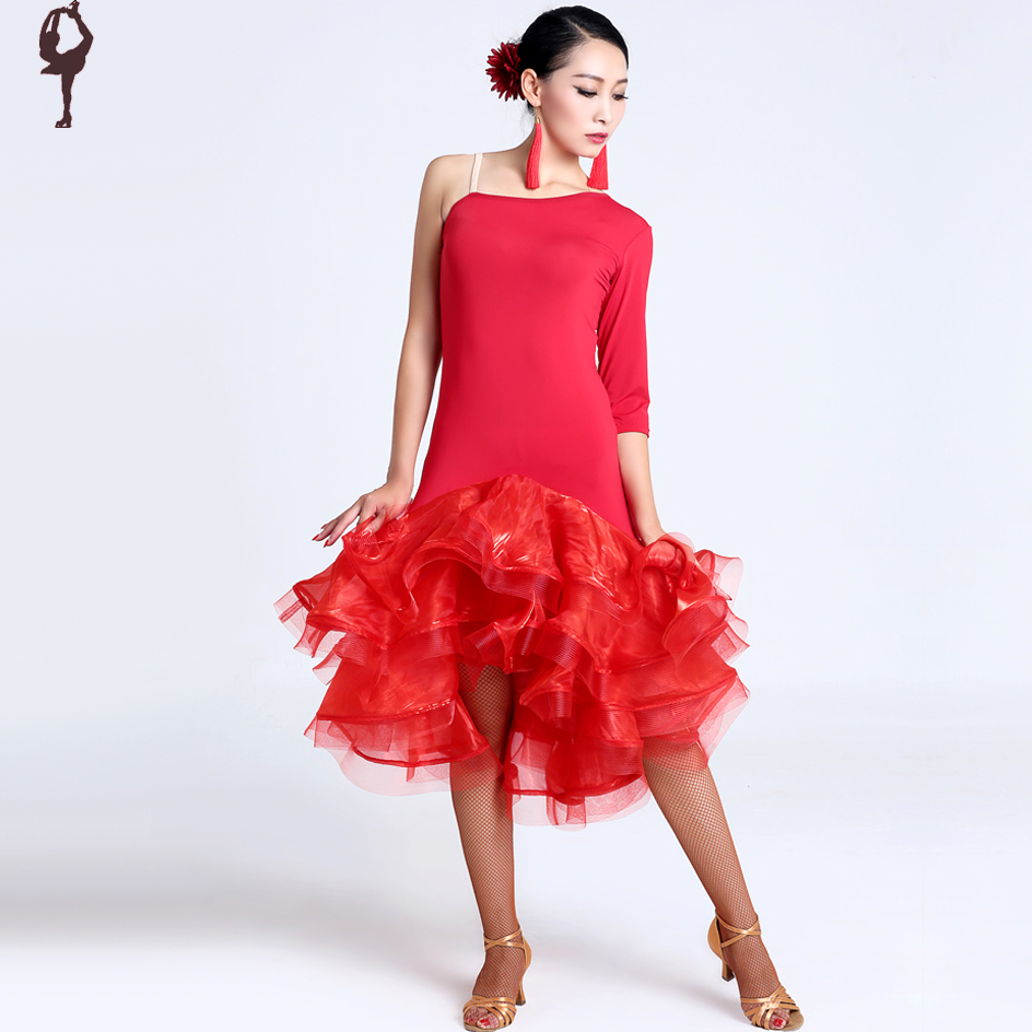 2015 New Latin Salsa Dresses Red/Tiger/Black Cha Cha/Rumba/Samba Dance Skirt Dance Wear Competition Dance Costume DQ13040Одежда и ак�е��уары<br><br><br>Aliexpress