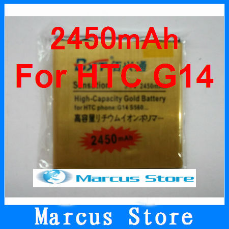 Free shipping hK post GOLD 2450mAh Business battery For G14 Z710E Mytouch 4G Slide Sensation XE Z715E EVO 3D