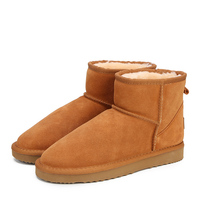 MBR FORCE 호주 Women 눈 Boots 100% Genuine 소 Leather Ankle Boots Warm 겨울 Boots Woman shoes 큰 size 34 -44(China)