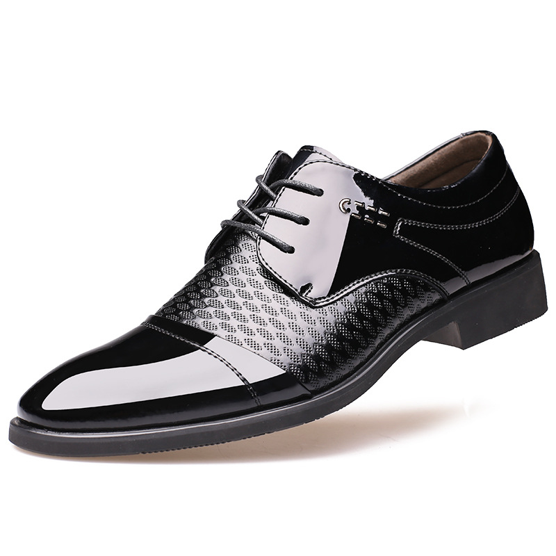 high quality brand business mens dress shoes leather 2016