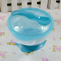 Slip resistant Wall Suction Child Tableware Baby Kids Sucker Dishes Gravity Bowl