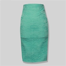 2016 New FASHION Lace Knee Length Sexy and elegant Women SEXY Elastic High Waist Bandage Wrap Skirt AA-540