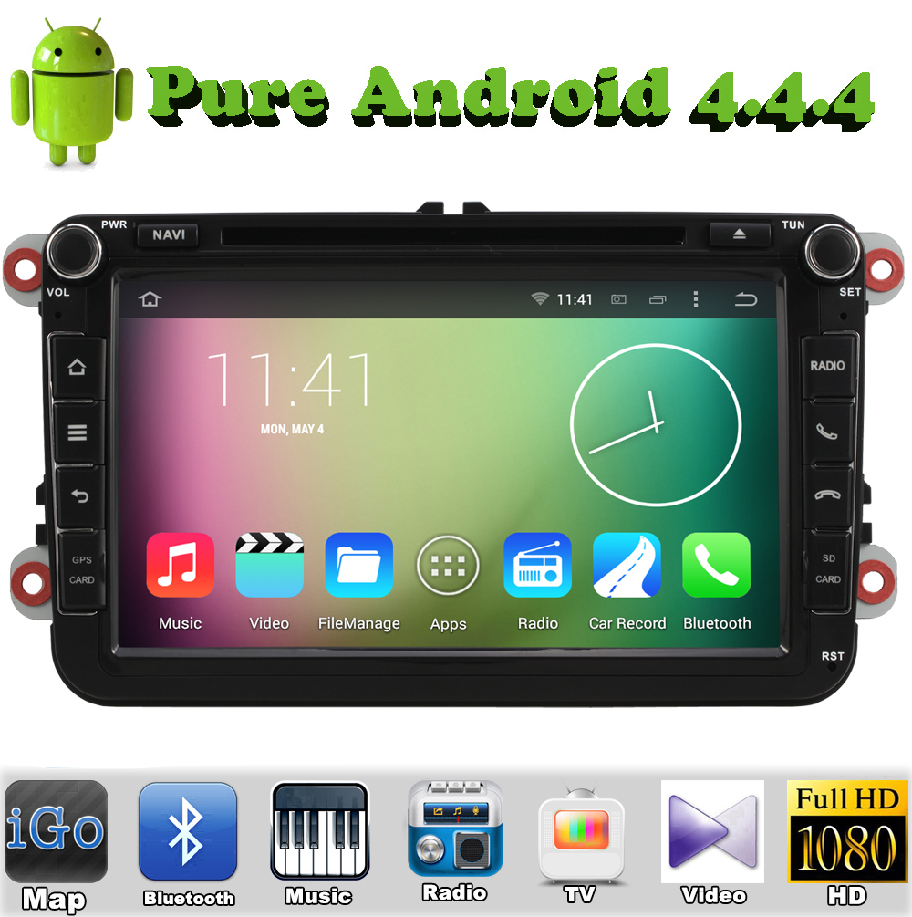 Android 4.4 DVD gps for VW Polo Jetta Tiguan Golf Bora Passat B5 B6 5 6 car Capacitive Screen 3g WiFi radio bluetooth Volkswagen(China (Mainland))