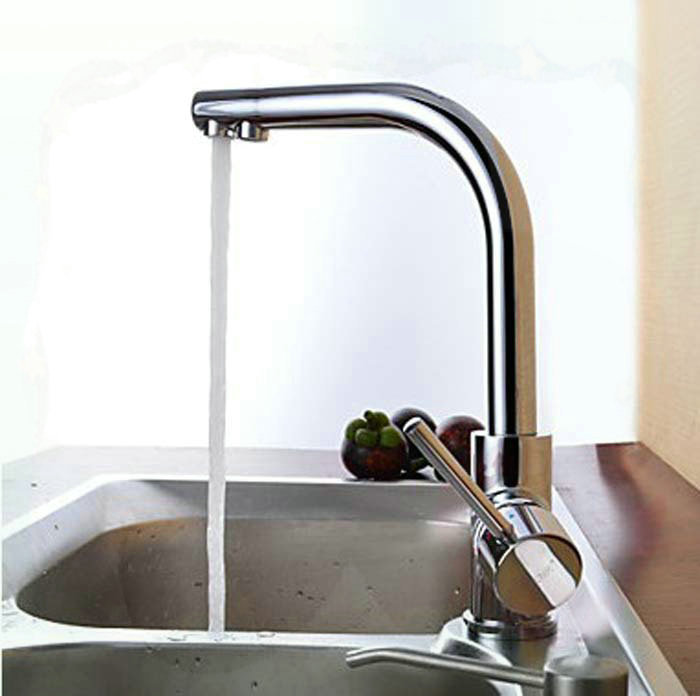 Chrome Surface Brass Kitchen Faucet Deck Mounted Mixer Tap bathroom faucets price<br><br>Aliexpress