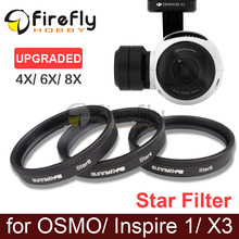 1pc Sunnylife Lens Filter 4X 6X 8X Star Night 4-Point 6-Point 8-Point X3 DJI OSMO/ OSMO+/ Inspire 1 - Firefly Hobby store