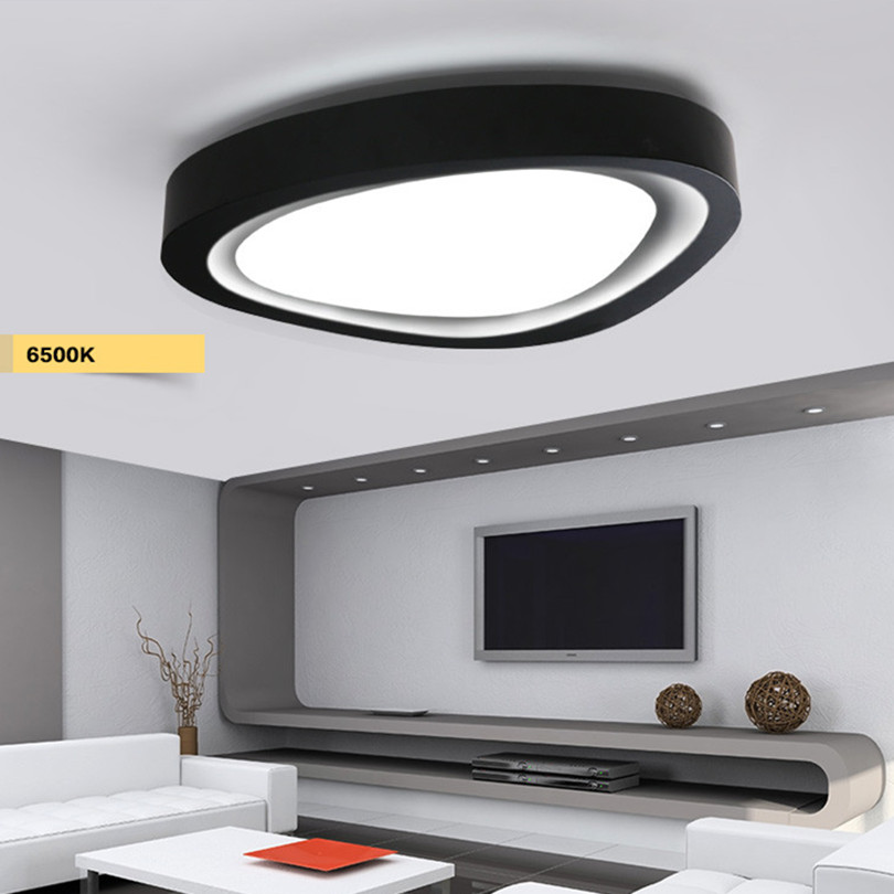 2016 Modern Character Dimmable 3 Color Temperature Art Fashion White Black Iron Led Ceiling Light For Bedroom(China (Mainland))