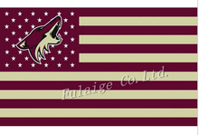 Buy Phoenix Coyotes Flag With No Stars Stripes NHL Flag 3x5 ft custom Banner 90x150cm Sport flag Stainless Steel Grommets for $6.99 in AliExpress store