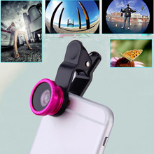 New 180 Degree 3 in1 Clip On Fish Eye Wide Angle Macro Lens for Smartphone Wholesale(China (Mainland))