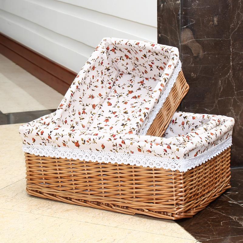 Плетеные коробки для хранения вещей купить - 8aff