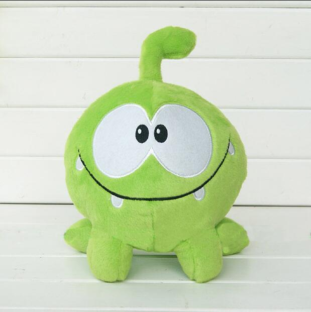 "1pcs 8"" 20cm om nom frog plush toys cut the rope Soft rubber cut the rope figure classic toys game lovely gift for kids(China (Mainland))"