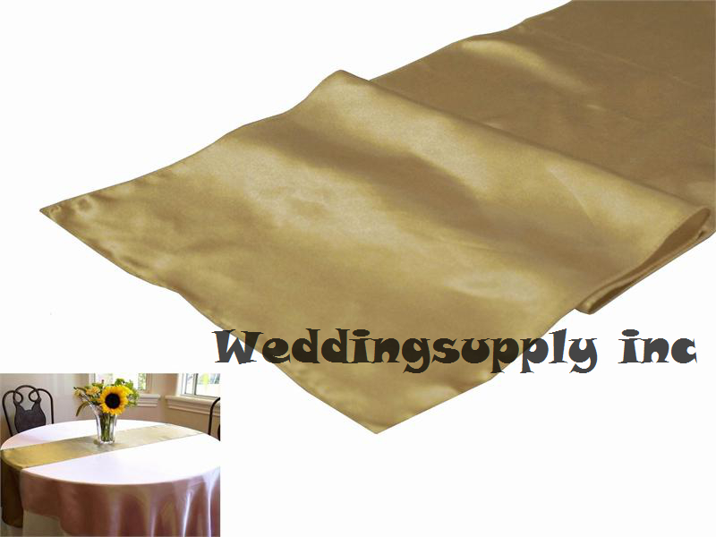 20 champagne cheap satin table runner for wedding table linen free mainland