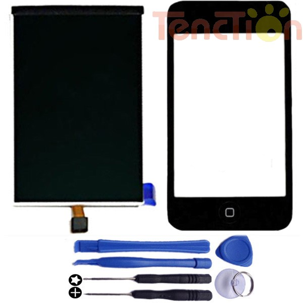 LCD Display+Touch Screen Digitizer Front Panel Glass Lens Frame Home Button Flex Cable Assembly for iPod Touch 2 Gen 2nd 2G Tool(China (Mainland))