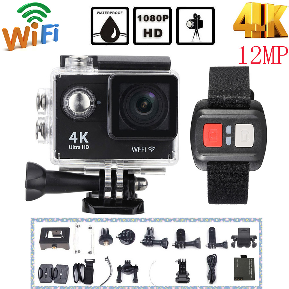 Oversea Stock H9R 4K Action Camera Wifi Full HD 1080P 12MP 170 degree Wide Angle Lens Mini Camera Car DVR with Remote Watch(China (Mainland))