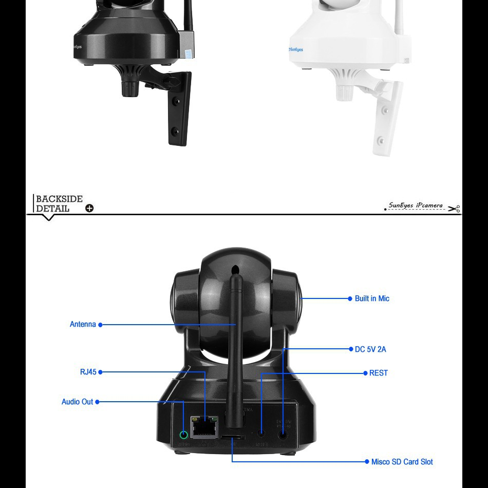 Suneyes Wireless Ip Camera Pan Tilt Free 81ch Professional