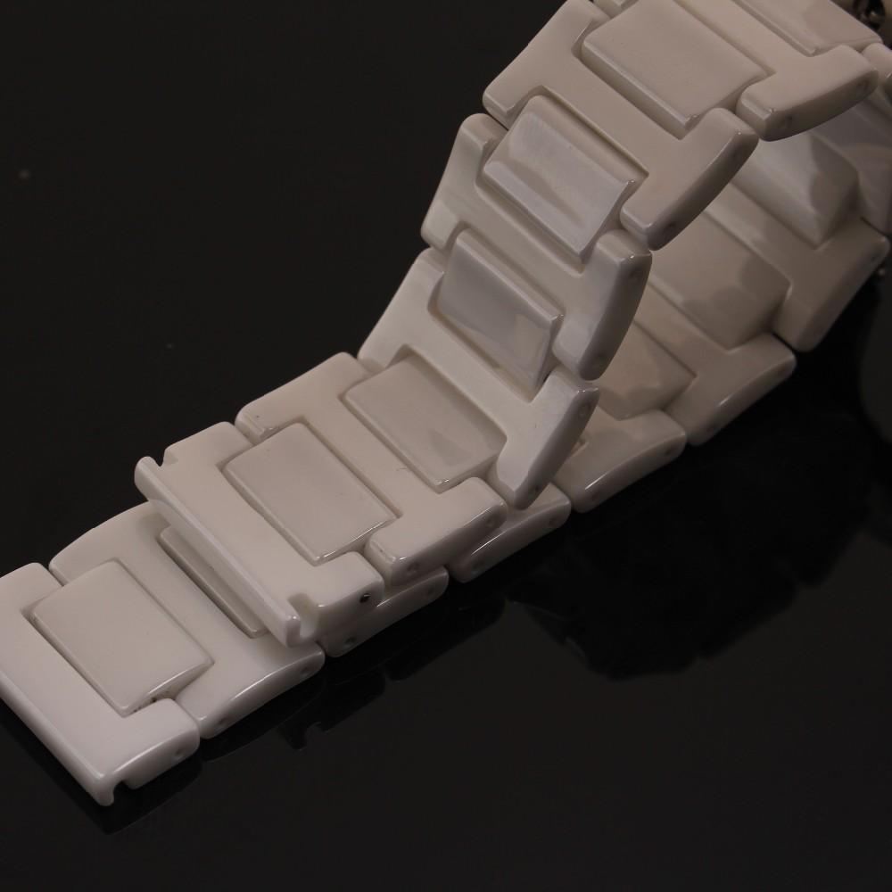 Высокое Качество Керамической ремешок браслет белый смотреть полоса 14 мм 16 мм 18 мм 20 мм наручные часы группа новая Керамическая браслет аксессуары