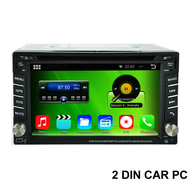 Free Shipping, Cortex A9 1.6GHz Capacitive Screen Android 5.1.1 2 Din Car PC With DVD GPS 4G WiFi OBD DVR Stereo Video Player(China (Mainland))