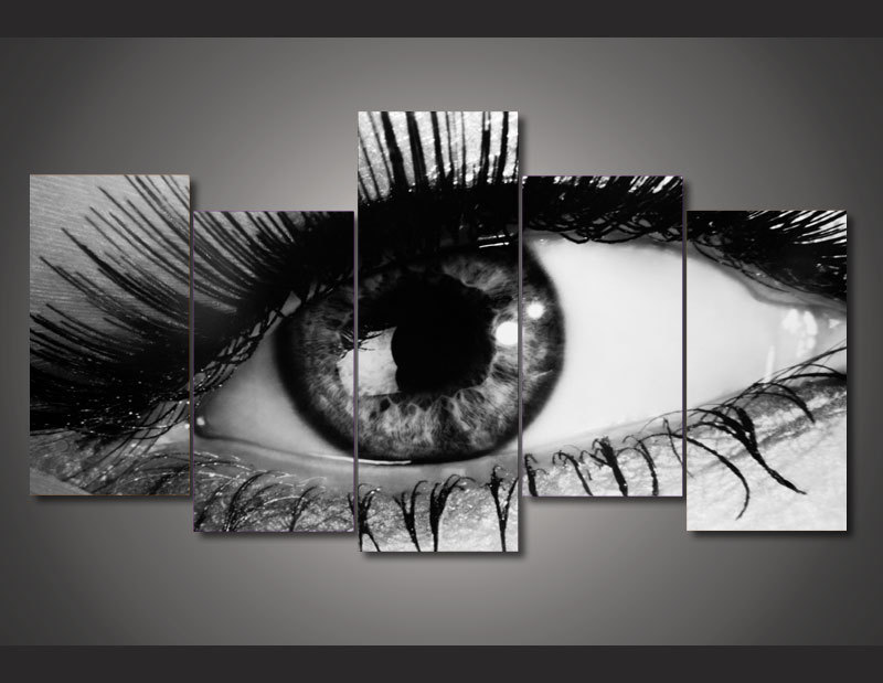Framed Printed eye black and white picture Painting wall art room decor print poster picture canvas Free shipping/ny-735(China (Mainland))