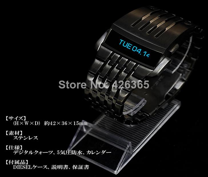 Военные Часы Мужчины Спорт Мода Люкс Железный Человек Концепция OLED ЖК-экранов Мужские Часы Из Нержавеющей Стали Бесплатная Доставка