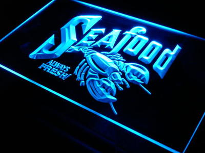 j277-b Seafood Always Fresh Restaurant LED Neon Light SignWholeselling Dropshipper(China (Mainland))