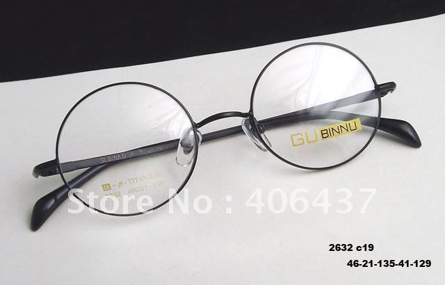 Eyeglass Frame Black Titanium Round Eyewear Spectacles RX Top Quality Newest(China (Mainland))