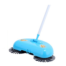 New broom dustpan suit without electricity telescopic lazy hand push sweeper sweeper wholesale home(China (Mainland))