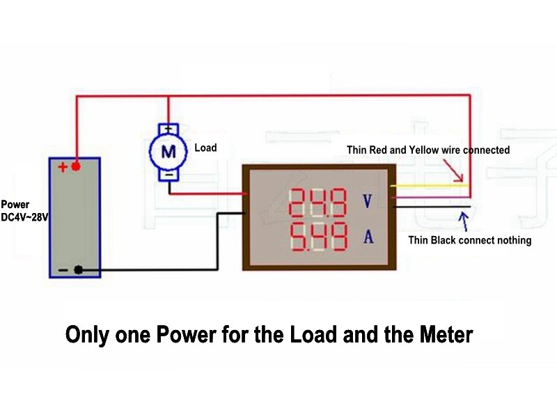 digital 4 bit dc 200v 0 10a voltmeter ammeter panel red blue led rh xcluma com