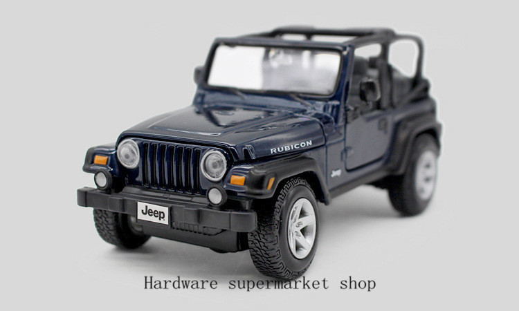 High Simulation Exquisite Model Toys: MeiZhi Model Chrysler Jeep Wrangler Rubicon Car Model 1:24 Alloy Car Model Excellent Gifts(China (Mainland))