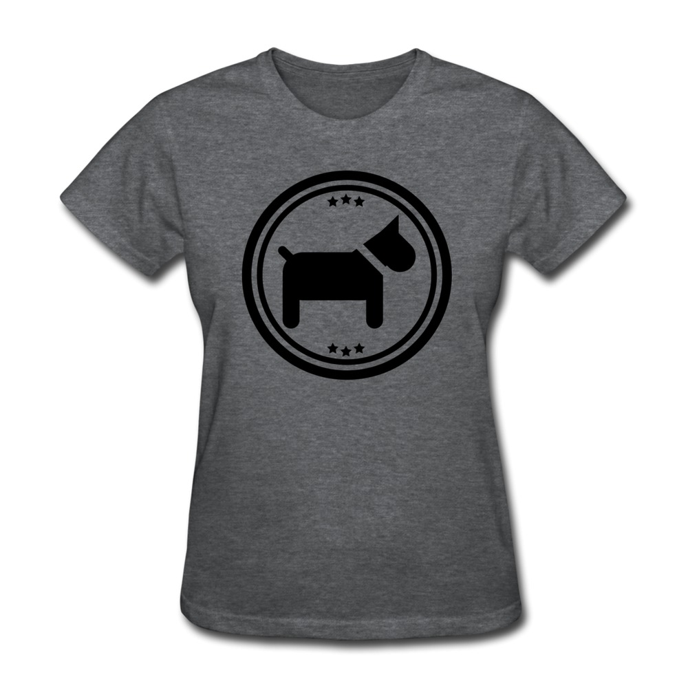 Custom 100 cotton women 39 s t shirt hund logo f1 vintage for Shirts with custom logo