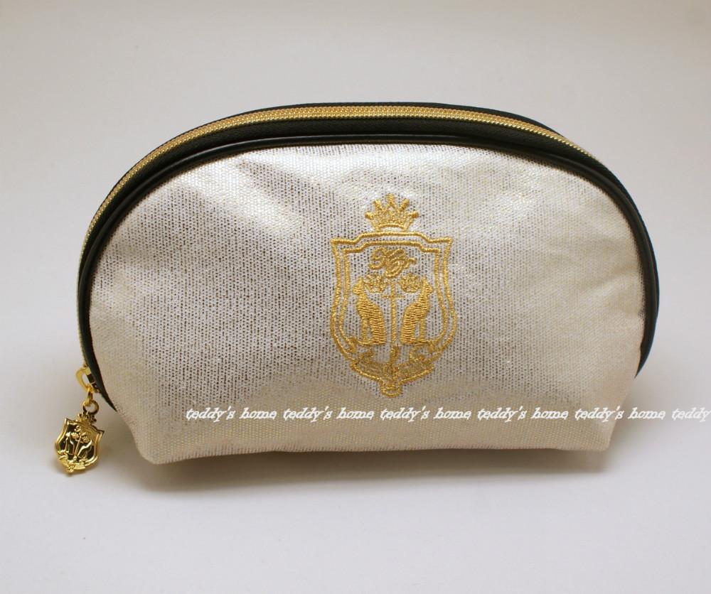 Free Shipping Fashion Cosmetic Bag Clutch Make Up Storage Bags Purse Organizer gold zipper(China (Mainland))