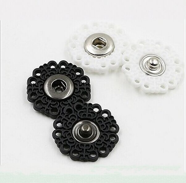 Wholesale Free shipping 100sets/lot Nylon plastic sew on press button Flower snap button fasteners SF-027(China (Mainland))