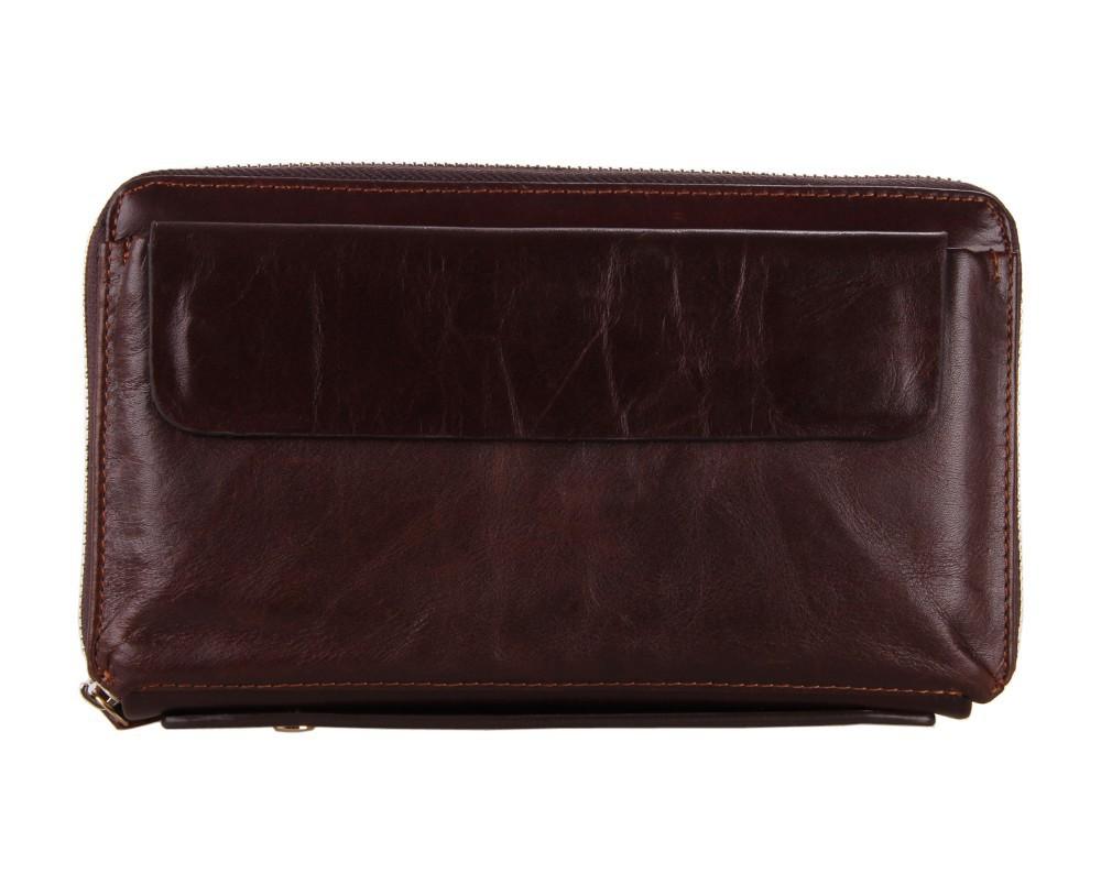 Genuine leather business hand bag wholesale high-grade Leather men wallets Wristlet NEW 2015 men Wallet Card Pack 8039