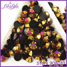 J4 Jelly Gold Rose AB Color Resin Flatback Stone 14 Facets 2MM 3MM 4MM 5MM 6MM Nail Art Rhinestone Decoration - Topstone store