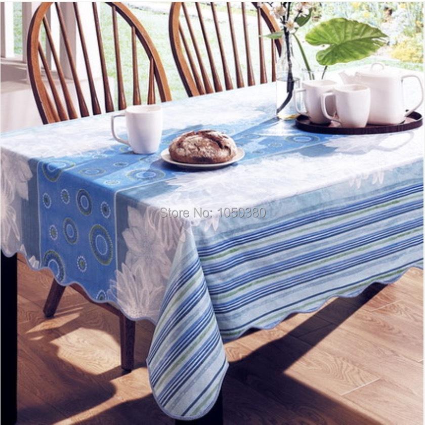 152x152 / 137x183 cm PVC Vinyl Tablecloth Flannel Backed free formaldehyde oil waterproof coffee tea table EN71 6 Patterns(China (Mainland))