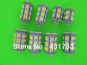 DC12V G4 led light 13 18 24 27 SMD 5050 led DC12V G4 bulb free shipping 5pcs/lot ( High Brightness )