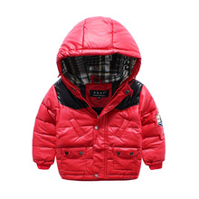 High Quality Winter Kids Down Jacket For Boys Girls Hooded Zipper Jacket Coat Children Clothing Outerwear Coats Down Parkas